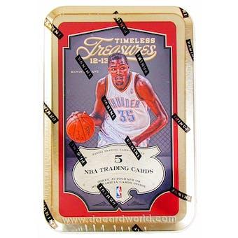 2012/13 Panini Timeless Treasures Basketball Hobby Box (Tin)