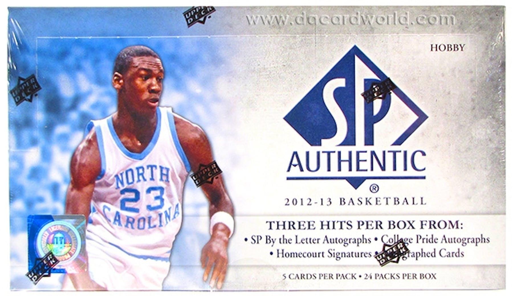 b000cb865 2012 13 Upper Deck SP Authentic Basketball Hobby Box
