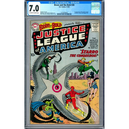 Brave and the Bold #28 CGC 7.0 (OW-W) *1214356003*