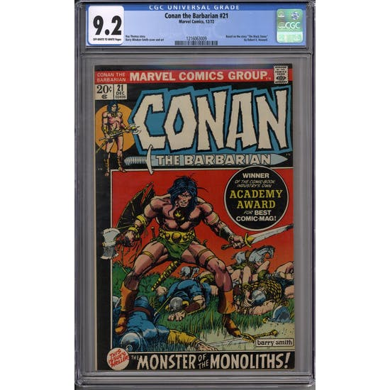 Conan the Barbarian #21 CGC 9.2 (OW-W) *1216063009*
