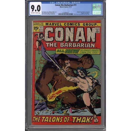 Conan the Barbarian #11 CGC 9.0 (OW-W) *1216063017*