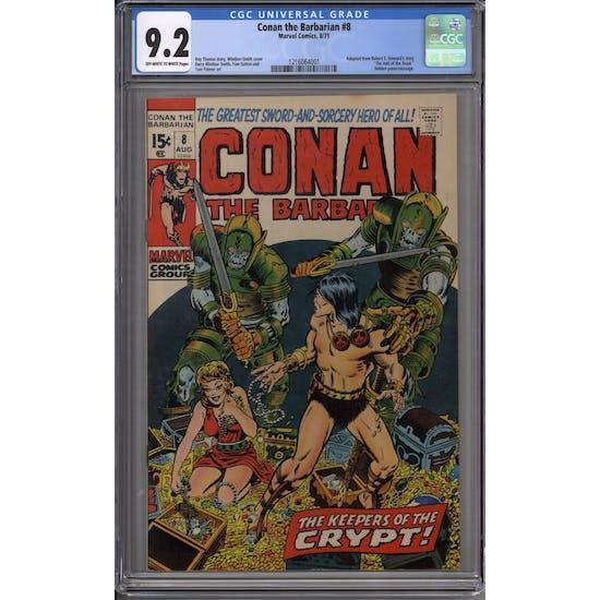 Conan the Barbarian #8 CGC 9.2 (OW-W) *1216064001*