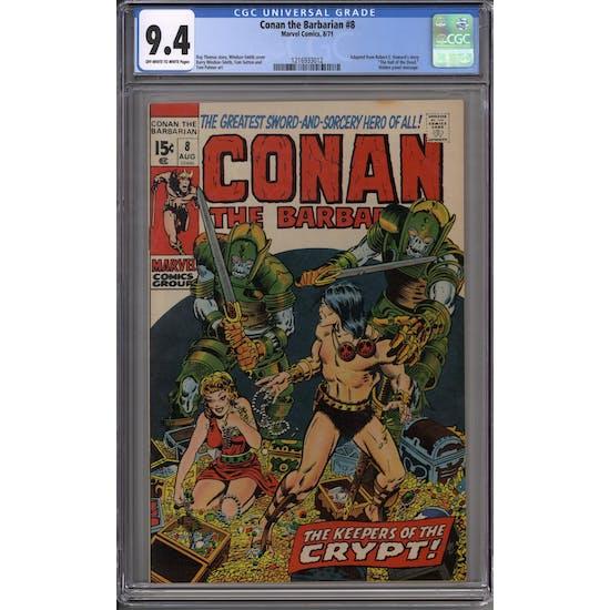 Conan the Barbarian #8 CGC 9.4 (OW-W) *1216933012*