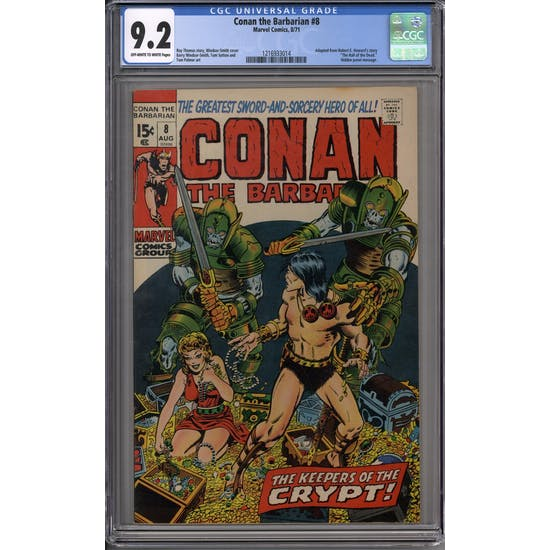 Conan the Barbarian #8 CGC 9.2 (OW-W) *1216933014*