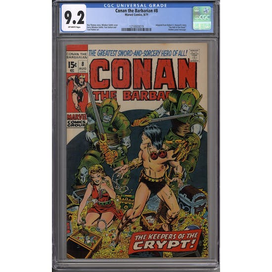 Conan the Barbarian #8 CGC 9.2 (OW) *1216933019*