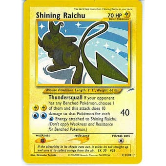 Pokemon Neo Destiny Single Shining Raichu 111/105 - NEAR MINT / SLIGHT PLAY (NM/SP)