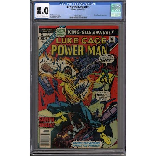 Power Man Annual #1 CGC 8.0 (OW-W) *1217023002*
