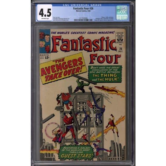 Fantastic Four #26 CGC 4.5 (OW) *1217533006*