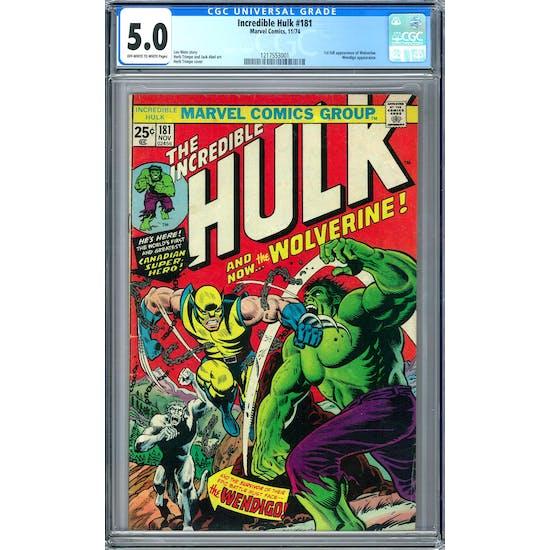 Incredible Hulk #181 CGC 5.0 (OW-W) *1217553001*
