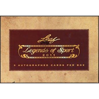 2011 Leaf Legends of Sport Baseball Hobby Box