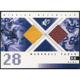 2000 Upper Deck SPx Winning Materials #WMMF Marshall Faulk Jersey Football