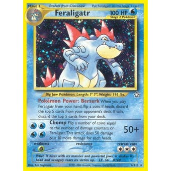 Pokemon Neo Genesis Single Feraligatr 4/111 - NEAR MINT (NM)