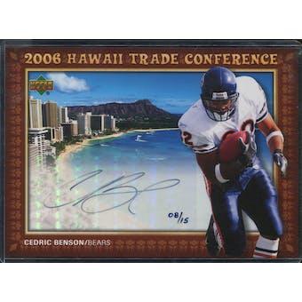 2006 Upper Deck Hawaii Trade Conference Signature Jumbos #HTC13 Cedric Benson 8/15