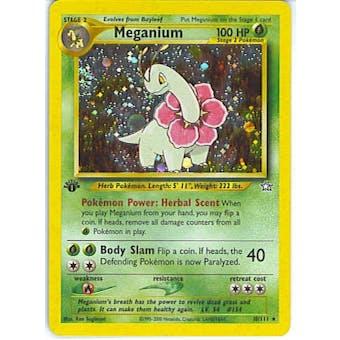 Pokemon Neo Genesis 1st Edition Single Meganium 10/111 - SLIGHT PLAY (SP)