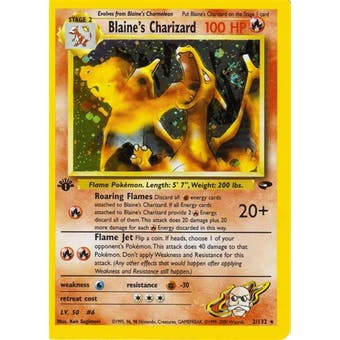 Pokemon Gym Challenge 1st Edition Single Blaine's Charizard 2/132  Slight Play (SP)
