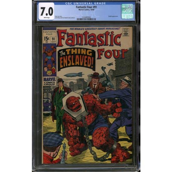 Fantastic Four #91 CGC 7.0 (W) *1224482002*