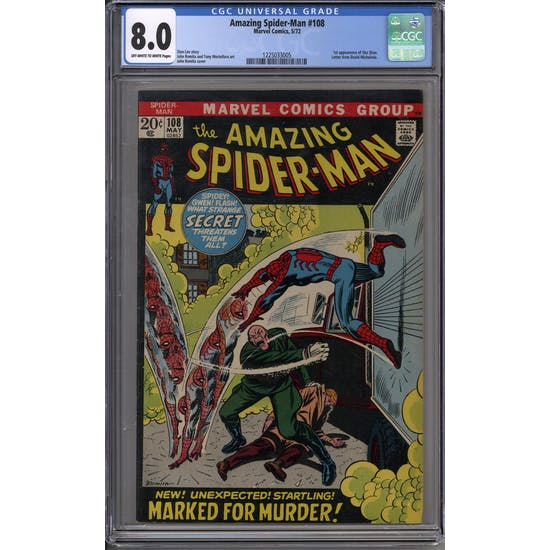 Amazing Spider-Man #108 CGC 8.0 (OW-W) *1225033005*