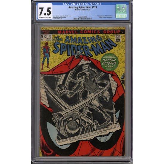 Amazing Spider-Man #113 CGC 7.5 (OW-W) *1225033006*