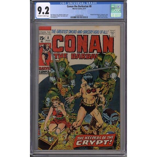 Conan the Barbarian #8 CGC 9.2 (OW-W) *1225033016*