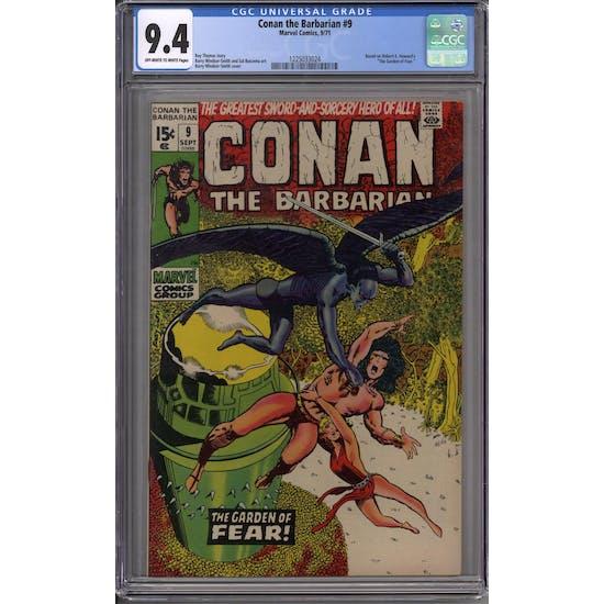 Conan the Barbarian #9 CGC 9.4 (OW-W) *1225033024*