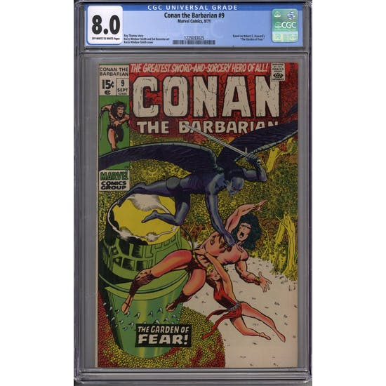 Conan the Barbarian #9 CGC 8.0 (OW-W) *1225033025*