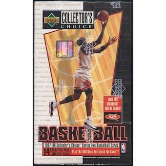 1997/98 Upper Deck Collector's Choice Series 2 Basketball Hobby Box