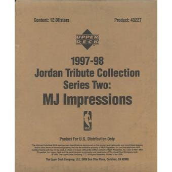 1997/98 Upper Deck Jordan Tribute Collection Series 2 MJ Impressions Blister Box