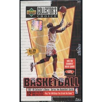 1997/98 Upper Deck Collector's Choice Series 2 Basketball Prepriced Box