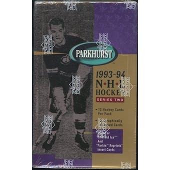1993/94 Parkhurst Series 2 Hockey Retail Box