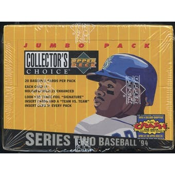 1994 Upper Deck Collector's Choice Series 2 Baseball Jumbo Box