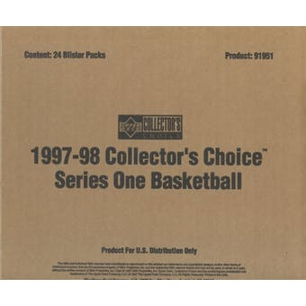 1997/98 Upper Deck Collector's Choice Series 1 Basketball Blister Box