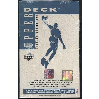 1994/95 Upper Deck Series 1 Basketball Retail Box