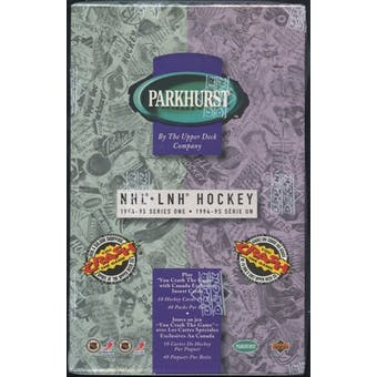 1994/95 Parkhurst Series 1 French Hockey Retail Box