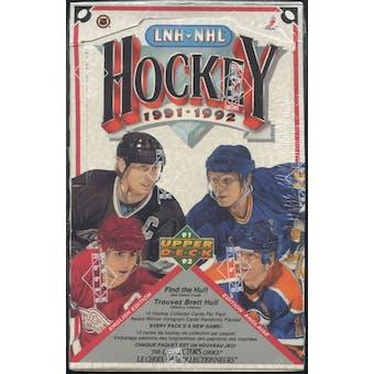 1991/92 Upper Deck English Low # Hockey Retail Box