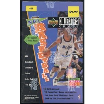 1996/97 Upper Deck Collector's Choice Series 2 Basketball Blaster Box