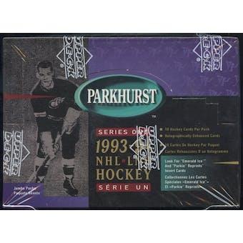 1993/94 Parkhurst Series 1 Hockey Jumbo Box