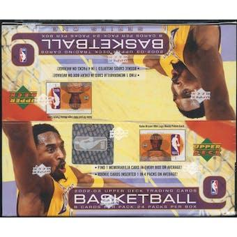 2002/03 Upper Deck Series 1 Basketball Retail Box