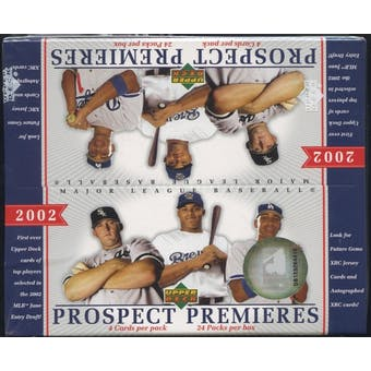 2002 Upper Deck Prospect Premieres Baseball Retail Box