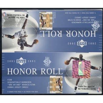 2001/02 Upper Deck Honor Roll Basketball Retail Box