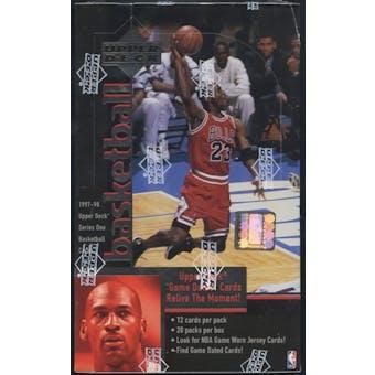 1997/98 Upper Deck Series 1 Basketball Retail Box
