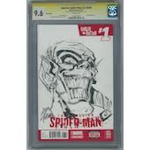 Superior Spider-Man #27.Now CGC 9.6 (W) Sig &Sketch By Ryan Stegman Green Goblin *1230320007*