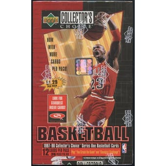 1997/98 Upper Deck Collector's Choice Series 1 Basketball Prepriced Box