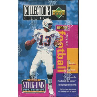 1995 Upper Deck Collector's Choice Update Football Retail Box