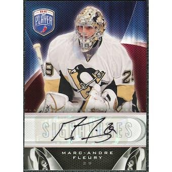 2009/10 Upper Deck Be A Player Signatures #SMF Marc-Andre Fleury Autograph