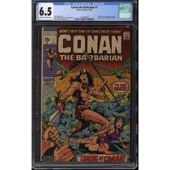 Conan The Barbarian #1 CGC 6.5 (OW-W) *1235089002*