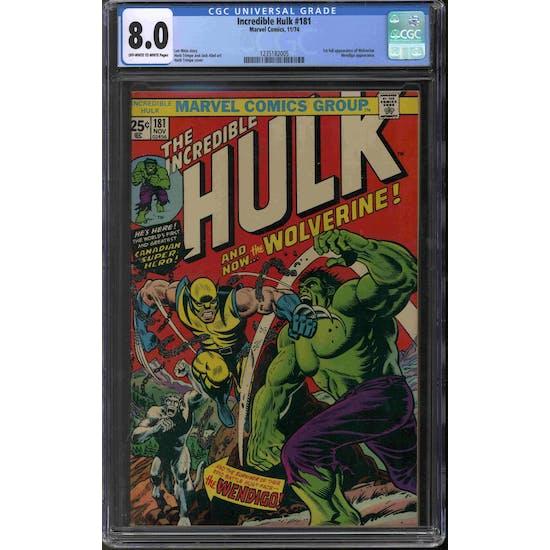 Incredible Hulk #181 CGC 8.0 (OW-W) *1235182005*