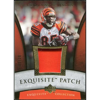 2006 Upper Deck Exquisite Collection Patch Gold #EPCJ Chad Johnson 5/30