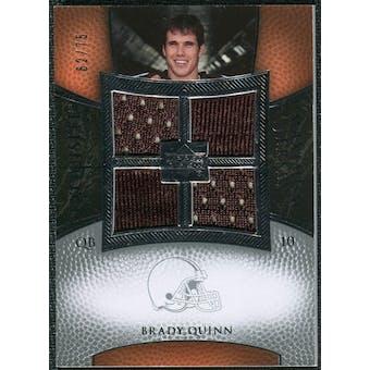 2007 Upper Deck Exquisite Collection Maximum Jersey Silver #BQ2 Brady Quinn /75