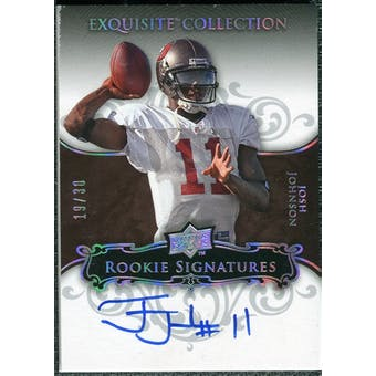 2008 Upper Deck Exquisite Collection Silver Holofoil #103 Josh Johnson Autograph /30