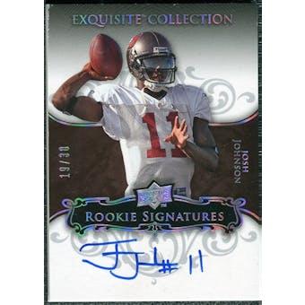 2008 Upper Deck Exquisite Collection Silver Holofoil #103 Josh Johnson Autograph /30